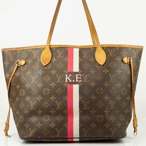 Auth Louis Vuitton Neverfull Mm Brown #4100L39